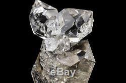 Large Herkimer Diamond Quartz Cluster 8 Crystals Fine Mineral Specimen