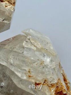 Large NY Herkimer Diamond Quartz Crystal Cluster 5pc, Rainbows, Hydrocarbon