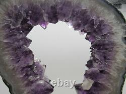 Large Natural Amethyst Geode Crystal Cluster on Stand AGS-2