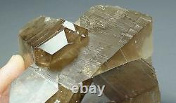 Large, Rare, Glassy Luster Brown Smoky Quartz Crystal Cluster, Pakistan