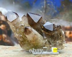 Large Smoky Quartz / Celestial Quartz Natural Crystal Cluster Himalayan 826g