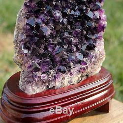 Large Uruguay Natural AMETHYST Flower QUARTZ Crystal GEODE CLUSTER 06