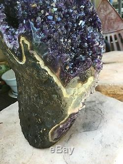 Large Uruguayan Amethyst Geode Cluster Quartz Crystal Agate