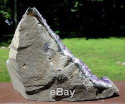 Large Uruguayan Uruguay Amethyst Crystal Cluster w Cut Base Over 5 Pounds