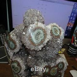 Lg Polished Lt. Amethyst Crystal Cluster Cathedral Geode F/ Uruguay Stalactite