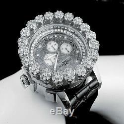 Mens Khronos White Gold Finish Real Diamond Joe Rodeo Cluster Bezel Iced Watch