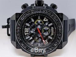 Mens Techno Com KC Joe Rodeo Jojo Genuine WEG Black on Black Diamond Watch 4 Ct