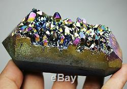 Most Fashionable Smoke Pipe! Angel color rainbow aura Crystal Cluster For Smoker