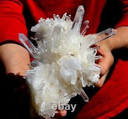 Museum 7 Water Clear Quartz Cluster, Columbia! Q208