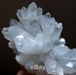 Museum Grade! Clear Angels Peace Lemurian Quartz Cluster with Turquoise-Green