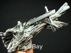 Museum Quality Shining STIBNITE Crystal Cluster Mineral Specimen
