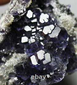 NATURAL Purple. Blue FLUORITE Quartz Crystal Cluster Mineral Specimen/ China