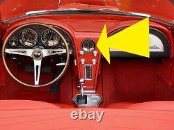 NEW! 1963 Corvette QUARTZ CLOCK PLASTIC BEZEL for Dash Cluster Battery Powered
