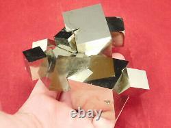 NINE! 100% Natural Entwined PYRITE Crystal Cubes! In a HUGE Cluster Spain 794gr