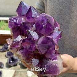 Natural Amethyst geode quartz cluster crystal specimen energy Healing 2580g