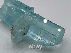 Natural Beryl var Aquamarine Crystal Cluster (196 Ct) Shigar Valley, Pakistan