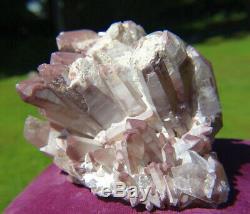 Natural Lithium Quartz Crystal Cluster