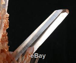 Natural Rare Beautiful Red skin QUARTZ Cluster Crystal Tibetan Specimen 2.73lb