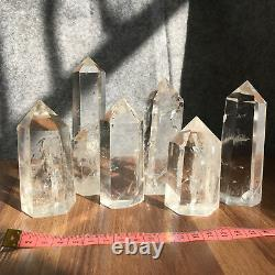 Natural clear quartz obelisk crystal WAND POINT healing 4.4LB