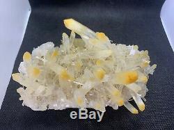 New Find Mango Quartz Cluster Boyaca Muzo Colombia Cabiche Halloysite Corona