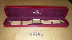 Omega Quartz 14k Solid Yellow Gold Mens Watch