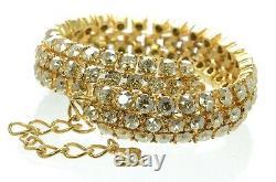 Oscar de la Renta Swarovski Crystal Accent Cluster Choker Necklace