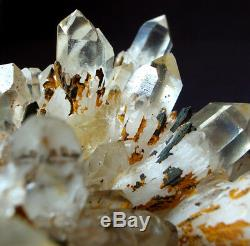 Outstanding and Rare Altar Kundalini Quartz Cluster Crystal Point