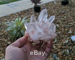 Pink Quartz Natural Cluster Crystal /Mineral 95x110mm