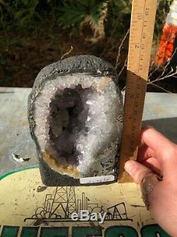 Polished Amethyst Cluster Quartz Geode from Brazil (3 Lb 14 Oz)