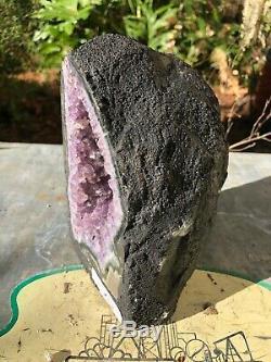 Polished Amethyst Cluster Quartz Geode from Brazil (6 Lb 10 Oz)