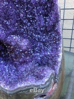 Purple Uruguayan Amethyst Geode Cluster Quartz Crystal Agate