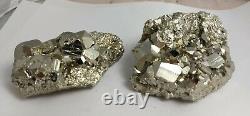 Pyrite crystal cluster specimen flat, wholesale minerals lot, Peru, 5.97kg