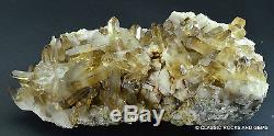 Quartz Crystal Cluster Citrine Smokey Orange River Quarz 15 x 7.1 x 6.2 cm