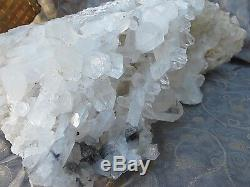 Quartz crystal cluster bed India Large 29x16x11 cms 5.611 Kilos true belief