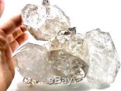 RARE HUGE 180x130x62 mm NY Herkimer Diamond Quartz Crystal Chain Cluster EL1