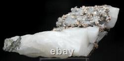 RARE NATIVE SILVER On Calcite Crystal Cluster Natural Mineral Specimen MOROCCO
