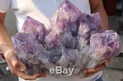 Rare! 15.1kg NATURAL BRAZIL AMETHYST QUARTZ Crystal Cluster Specimen