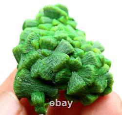 Rare Natural Green Autunite Crystal Cluster Mineral Specimen 24.7g