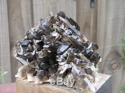 Raw Smoky Quartz Crystal Cluster 2.49 KG Collectors Item