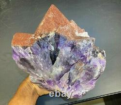 Red Hematite Amethyst Quartz Crystal Cluster Thunder Bay Canada Auralite 23