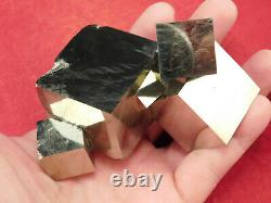 SEVEN! 100% Natural Entwined PYRITE Crystal Cubes! In a BIG Cluster Spain 561gr