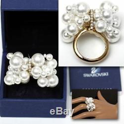 SWAROVSKI Ladies DIAMOND CRYSTAL / PEARL RING with Certificate (8)