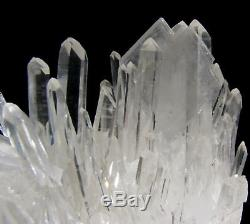 Sharp Barite Crystals On Clear Quartz Cluster Specimen