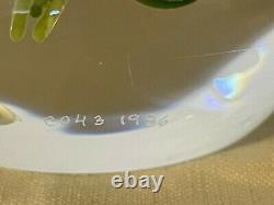 Spectacluar PAUL STANKARD Bunch of Lilies Art Glass PAPERWEIGHT