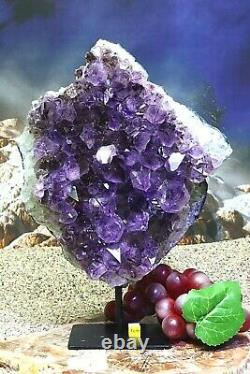 Spectacular Amethyst Crystal Cluster on Stand Natural Mineral Healing 3.03kg