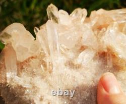 Stunning Large High Grade Himalayan Quartz Cluster Specimen. Healing Crystal