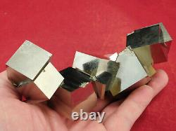 TEN! Nice and Natural Entwined PYRITE Crystal Cubes! In a BIG Cluster! 498gr