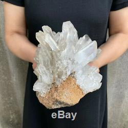 Top! 8.2LBS Clear Quartz Cluster Natural Crystal Mineral Specimen Healing