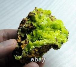 Unique Formation Yellow Green Pyromorphite Crystal Cluster pymm026