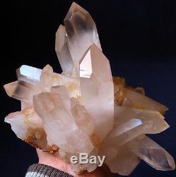 Unique! GEM Elestial Angel PINK Lemurian Quartz Cluster-Angel Wings